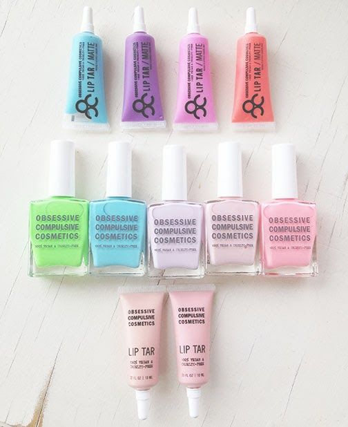 These are pretty like pastel macarons or cupcakes (OCC) ...look at all the other lovely make-up goodies: