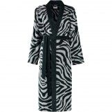 Cawö Bademantel Damen Velours Instinct Zebra 4494 anthrazit - 97