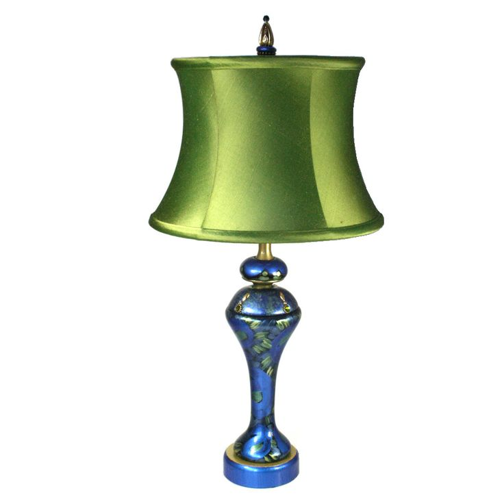 pretty as a peacockthe shirley accent lamp adds colorful ambience and elegance to your