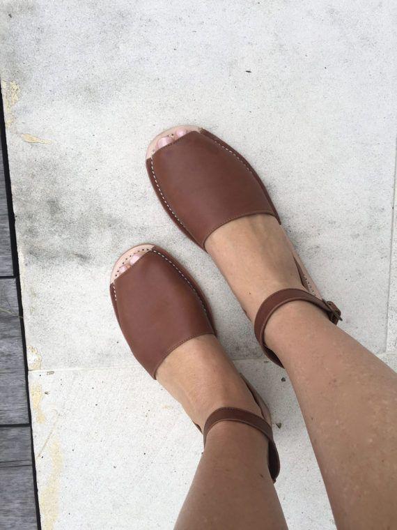 TUSK LEATHER Sandal Dark Brown Slingback with removal strap
