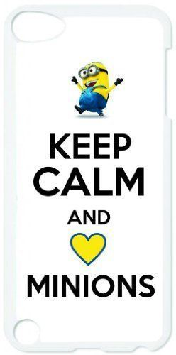 Keep Calm and Love Minions - Dispicable Me - Apple iPod Touch 5 White Case - Itouch 5th Generation