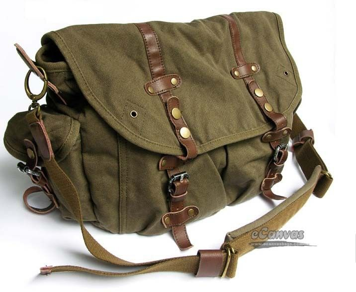 Messenger Bags for School | ... -bag-distressed-messenger-bag-messenger-school-bag-khaki-green.jpg