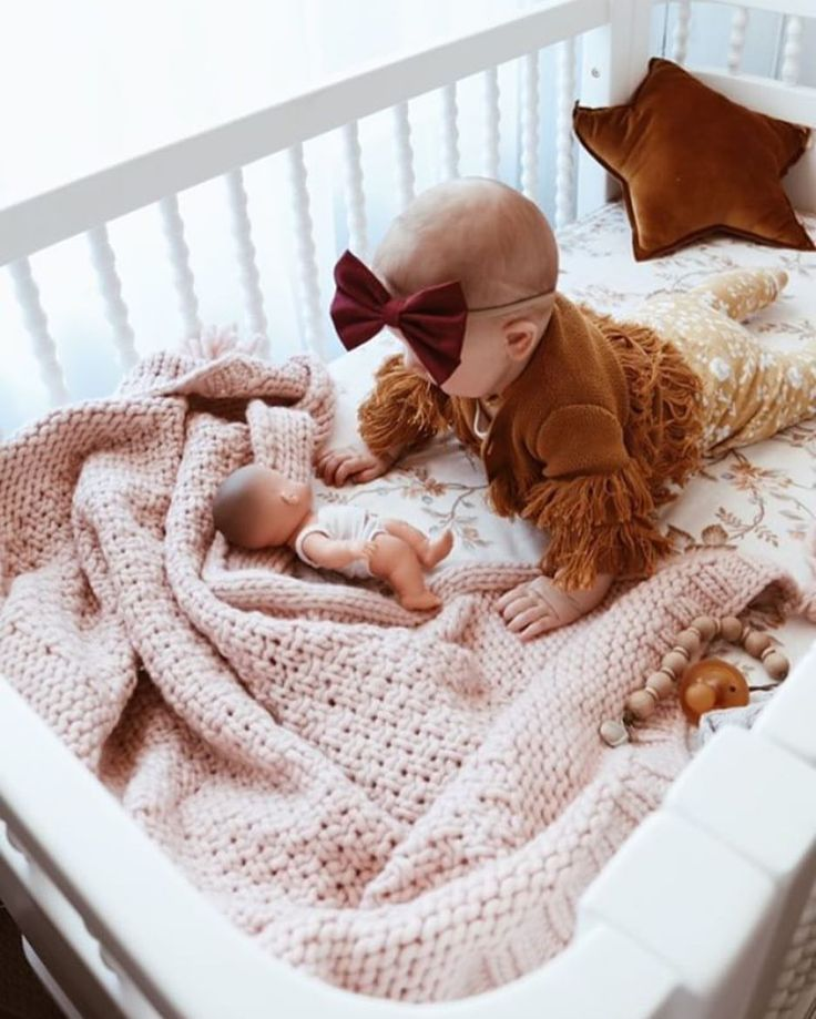 "318 Likes, 41 Comments - 3 Little Crowns (@3.little.crowns) on Instagram: ""Oh Sass, you just melt my heart 💕 Our merino wool tassel blanket in blush is looking mighty fine in…"""