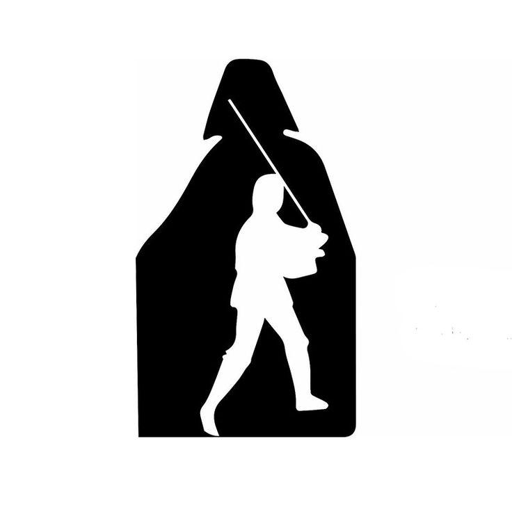 Comercio al por mayor 20 unids/lote 15 cm x 10 cm Luke Skywalker Y Darth Vader Etiqueta Engomada del coche Para El Carro Ventana Parachoques Puerta del Vinilo de 9 Colores(China (Mainland))