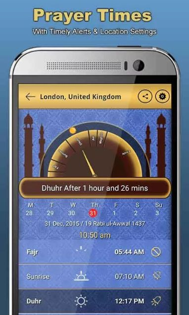 Accurate prayer times with Timely Alerts & Location Settings. our web: islamicguidepro.com