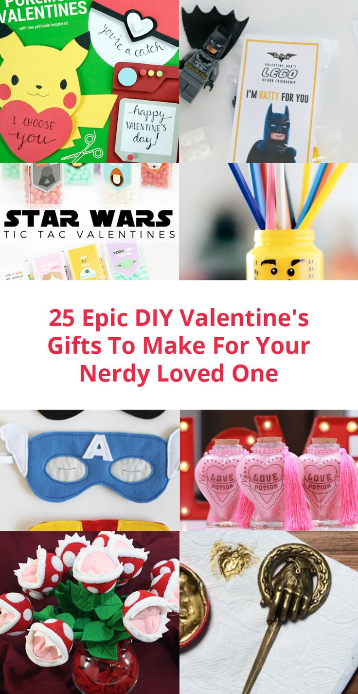 With Valentine's Day just around the corner, we collected some really cool Valentine's DIY projects. What better way to show your loved one how you feel than making the gift yourself?  From Harry Potter inspired gifts to Star Wars, From Zelda to Pokemon, we have it all. All you need are some supplies and patience. We will make some of those ourselves so follow us on Instagram to see how they turn out.  Click on the images to see the instructions and let the crafts begin. And one last thing…