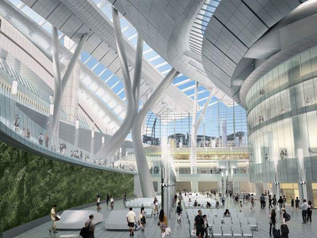 La línea de Ferrocarril Expreso de la Terminal Oeste de Kowloon, conectará Hong Kong con la Red Nacional de Trenes de Alta Velocidad. La instalación de 430,000 metros cuadrados albergará 15 pistas y será la mayor terminal de metro en el mundo.