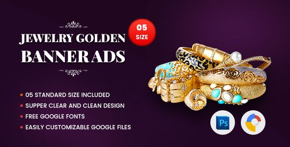 Jewelry Golden Banner HTML5 - GWD