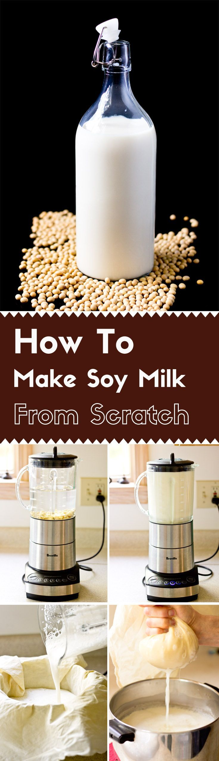 A guide of making soy milk at home! via /lightorangebean/