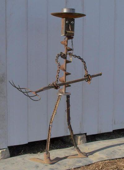 Metal Garden Scarecrow Iron Scarecrow Garden Ideas