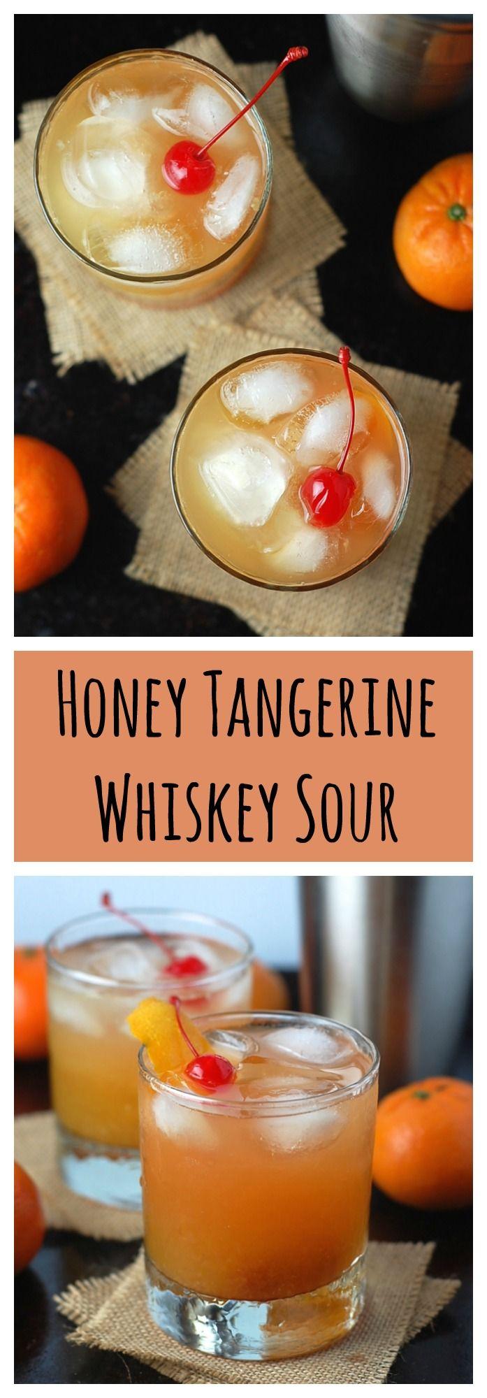 Honey Tangerine Whiskey Sours