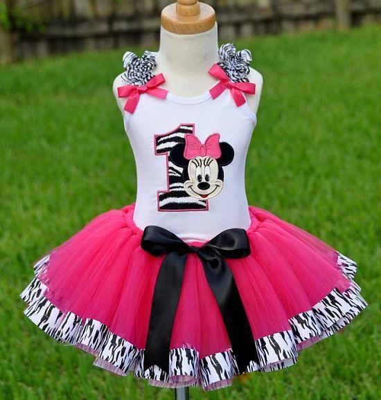 Pink And Black Zebra Tutu