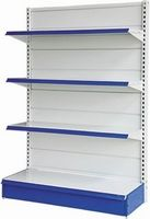 Super shop gondola Shelving for bangladesh (001) ৳ 16,000.00  Categories: Industrial Furniture, Supermarket Gondola Tags: gondola shelving, shelves for supershop, shelving, supermarket gondola, supermarket shelving, supershop gondola shelving, Supershop rack, supershop stand shelf, wall shelves Model No : SG001 Paint : Powder coating Color : blue, white, red, yellow (also as your requirements) Layer : 5 Layer (capacity 70kg per layer) Materials : Mile Steel Single-side