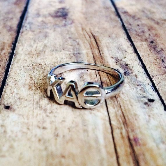 Kappa Alpha Theta Classic Letter Ring by LetteredCo on Etsy