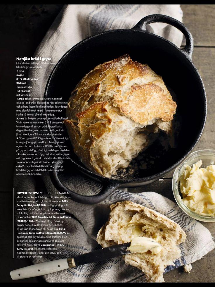Nattjäst bröd - Recept - Stowr
