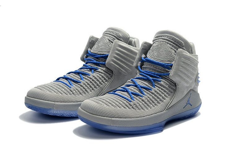 872a90bf613 2018 New 2018 Cheap Air Jordans 32 XXXII Wolf Grey Blue Shoes Size Euro 42
