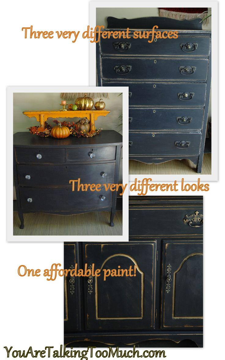 Diy How To Get A Chalk Painted Look Using Valspar Paint And Primer 3 Different Surfaces Were