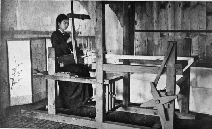 A woman works at a textile loom. Then and now, North Korea's economy has relied heavily on its textile industry, which is responsible for one of the country's primary exports. Like many industries, it has suffered as a result of the country's isolation; the European Community, for example, has strict quotas and bans on the importation of North Korean textiles.