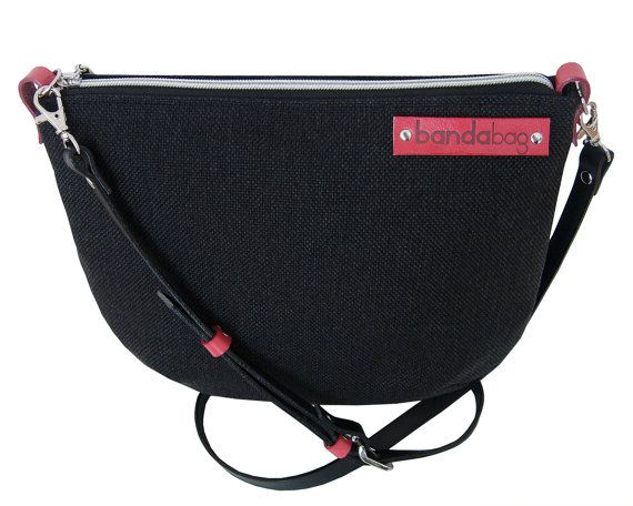 Messenger bag crossbody bag with genuine leather by bandabag