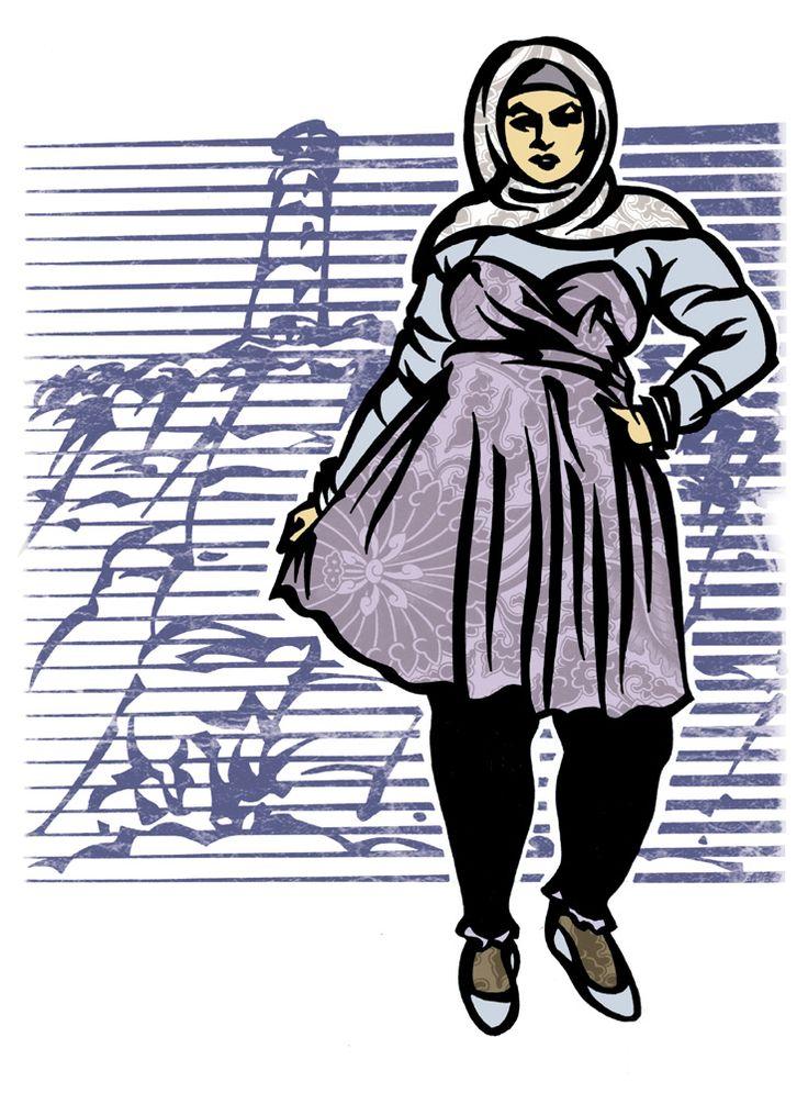 Pin von Fatima Kreuzberg auf Sketch Muslima