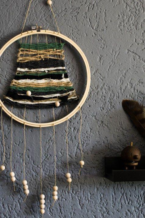 Stickrahmen einmal anders – DIY gewebter Wandbehang | Der Schlüssel zum Glück | Interior Design für Jedermann