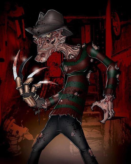 Freddy allllll cartooned out!