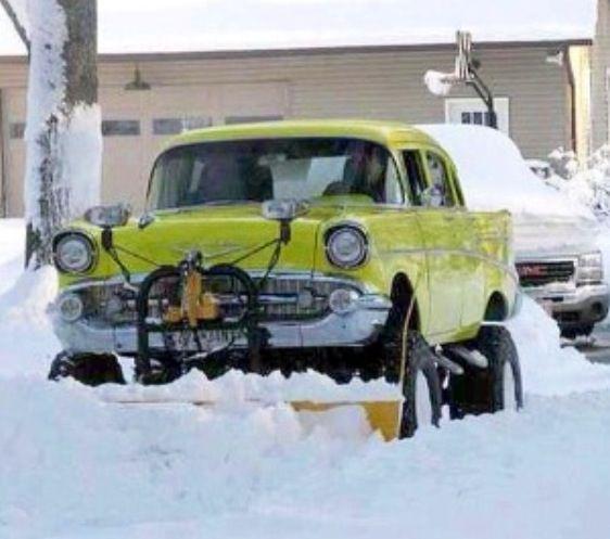 1957 Chevy Snow Plow   fastmowsfastplows.com   #fastmowsfastplows