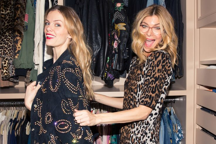 Whitney Casey and Brooklyn Decker On Their App Finery: Whitney Casey and Brooklyn Decker make *quite* the pair. For starters, they're BFFs who finish each other's sentences. The former newscaster and model love playing dress-up in Casey's closet in her Kelly Wearstler-designed Soho apartment (don't worry, both of those are coming to Coveteur very soon). They actually met during a game of dress-up. -- Cheetah jumpsuit and gold beaded jacket.  | Coveteur.com