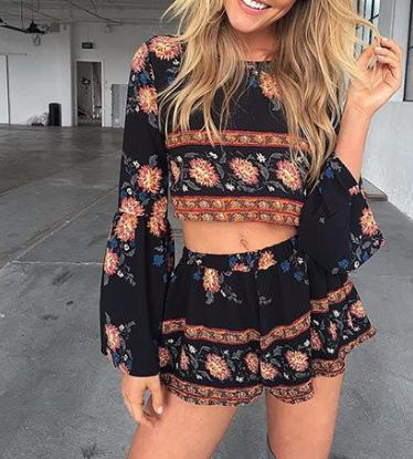 NEW ARRIVAL - Gypsy Floral Winged Two-Piece - Love the back detail on this. Only $38.99 + Free Shipping http://ss1.us/a/fomTrId5