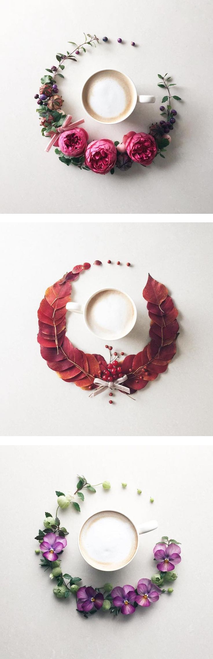 Japanese Instagrammer Sawa turns a morning cup of joe into an elegant piece of coffee art.
