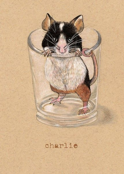 Mouse ATC Artist Trading Card
