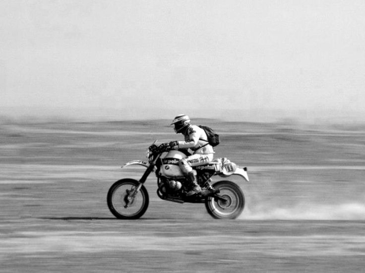 Hubert Auriol, BMW, Dakar Rally, 1983.