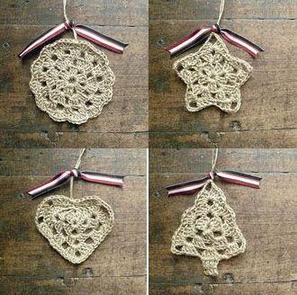 Crochet Ornaments - Tutorial ❥ 4U // hf ♥❥Teresa Restegui http://www.pinterest.com/teretegui/❥♥