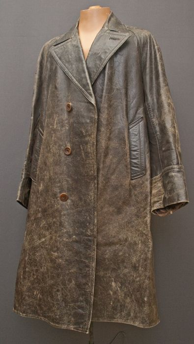 1930's man's leather coat from the Mab's Collection