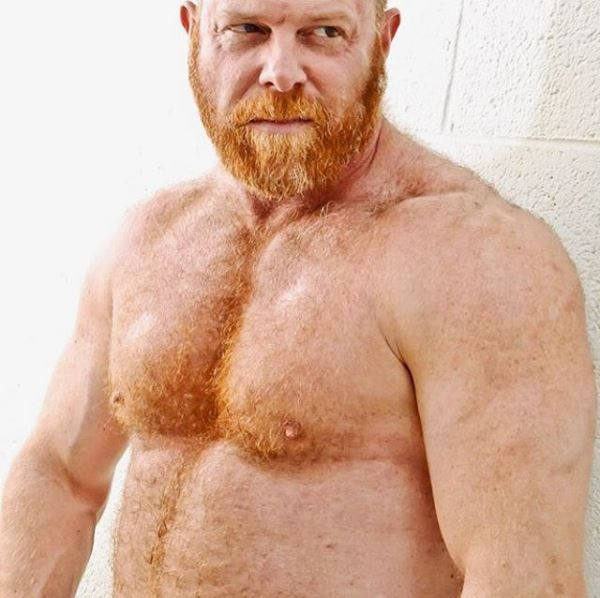 Stocky hairy guys