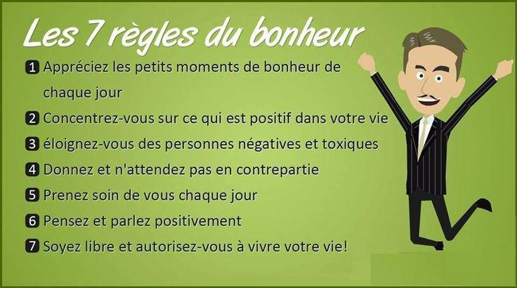 7 regles du bonheur
