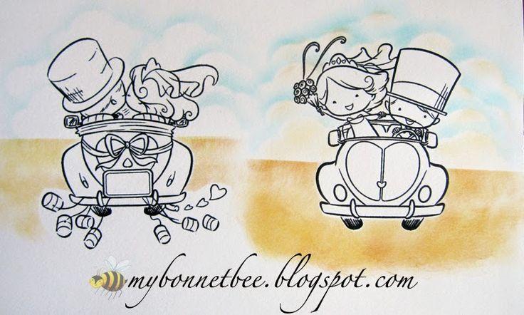 disegni sposi in viaggio di nozze - Cerca con Google