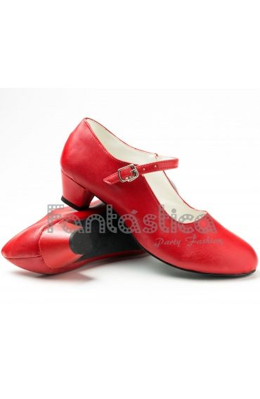 Zapatos para Flamenco Color Rojo - Tallas para Niña y Mujer
