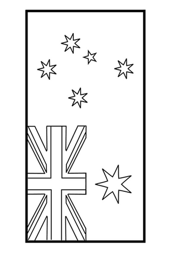 Free Online Australian Flag Colouring Page - Kids Activity Sheets: Australiana Colouring Pages