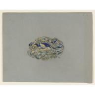 Design for a Brooch, Eugène Samuel Grasset, ca. 1900: Eugène Samuel, Samuel Grasset