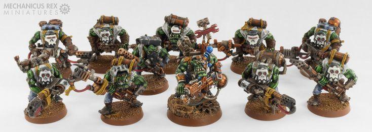 Mekboy Gear'ead Gazlugg Mek Burna Squad Ork Blood Axe Clan Warhammer 40K