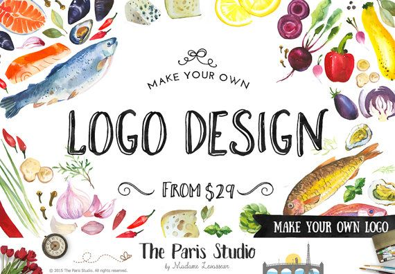 NON Premade Logo Design Make Your Own Logo by TheParisStudio