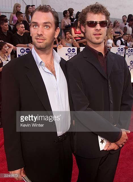 Trey Parker and Matt Stone at the '2000 MTV Movie Awards' on 6/3/00 at the Sony Pictures Studios in Culver City, Ca.Photo by Kevin Winter/Getty Images