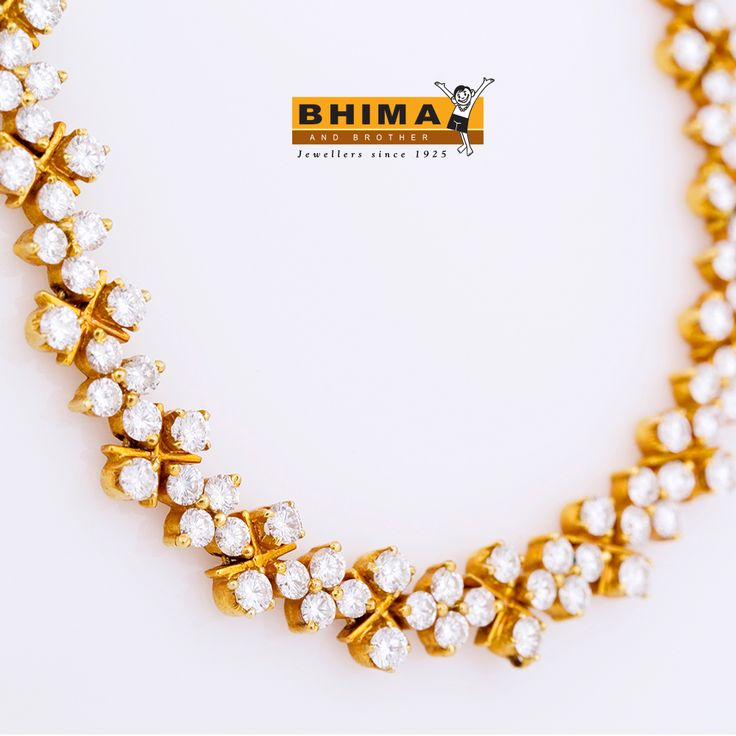 #Fashion is what you buy Bhima & Brother Jewellers . #Style is how you wear it ... #jewelry #luxuryfashion #gold #necklace