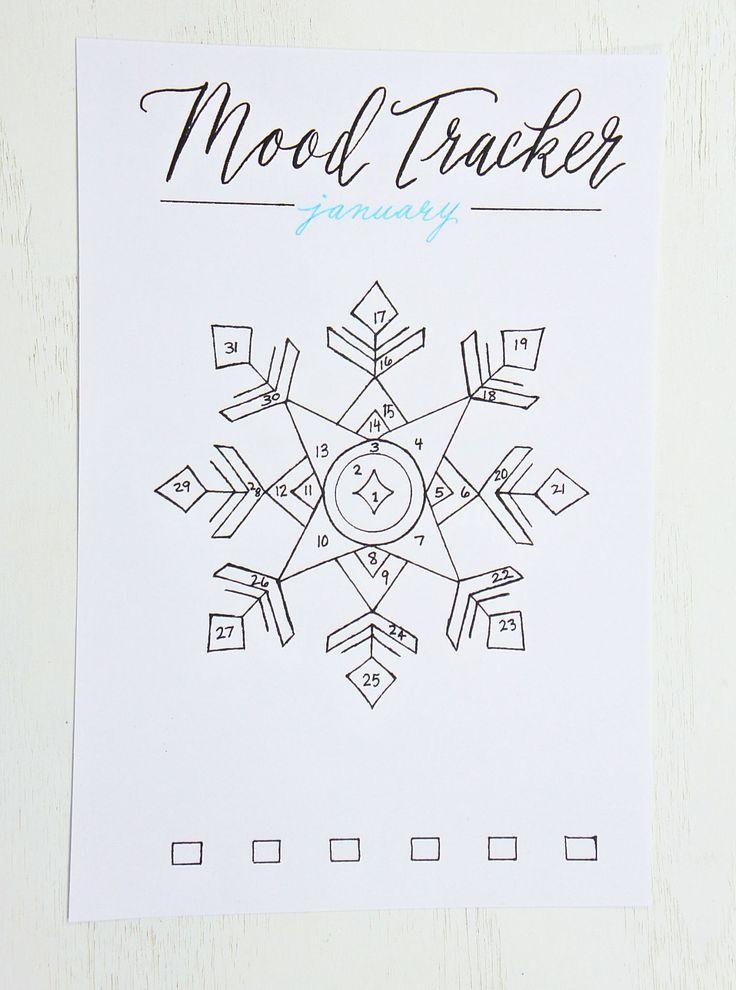 BULLET JOURNAL- January mood tracker