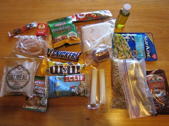 5 3500 calorie backpacking meal plans. Dunno that I would eat some of these things, but it's giving me some ideas: