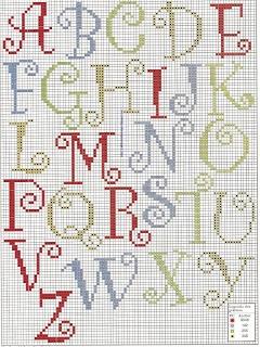 De Fio a Pavio, ponto cruz. Cute, simple cross-stitch alphabet