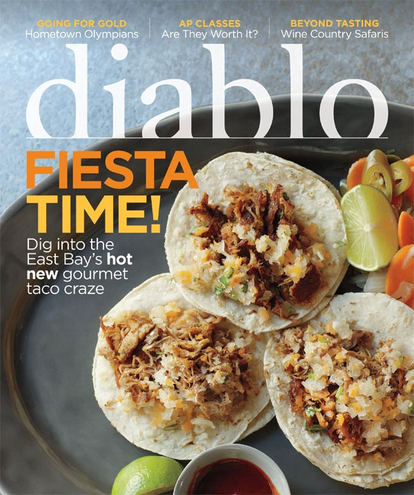 August 2012. Cover story: High-end chefs elevate the simple taco. Inside: Hometown Olympians, AP Classes, Wine Country Safaris, Meet: Greg Perloff, Local Craft Beer, and Summer Jams.
