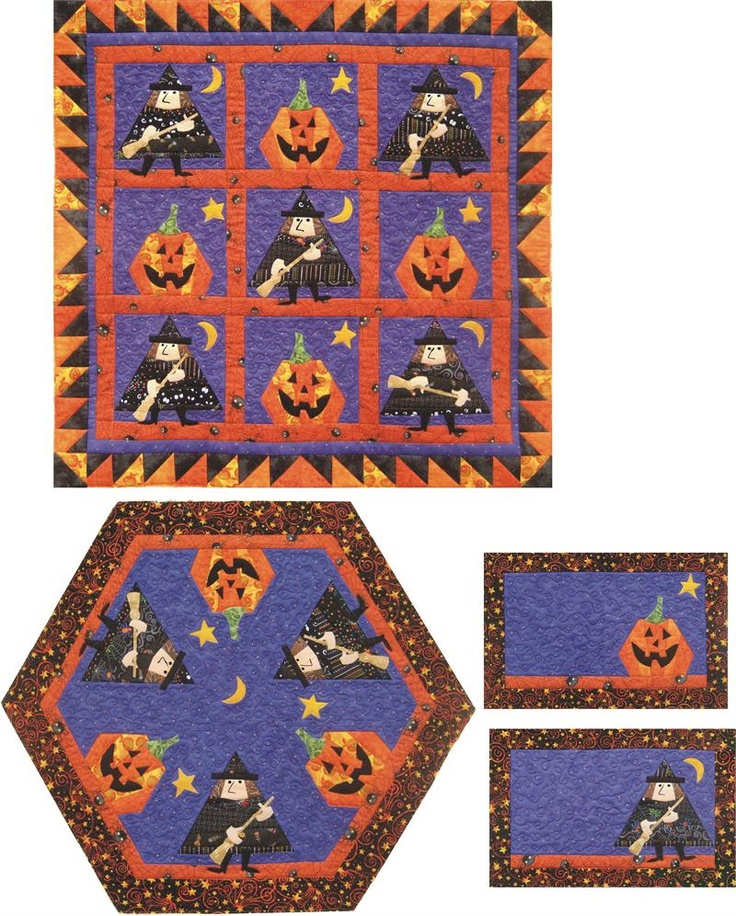 17 Best images about Halloween Patterns on Pinterest Quilt, Witch quilt and Halloween