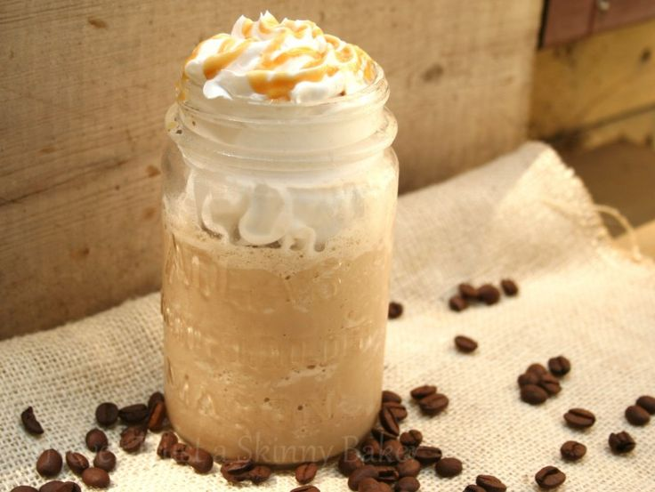 Skinny Caramel Frappuccino.... Note to self: Play with this recipe. As is, it has half the calories of Star Bucks and I think I could get it lower by using caramel sugar free syrup instead of the creamer and possibly Silk instead of milk.